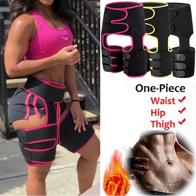Faja Reductoras Sauna Corset Thigh shaper Waist Trainer Belt Slimming Sweat Pants Women Thigh Trimmers Leg Shaper Fat Burning US