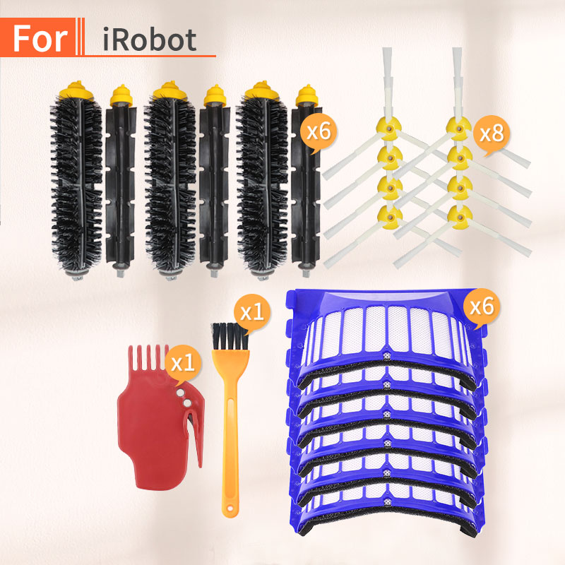 Robot vacuum cleaner for iRobot Roomba 600 series Replace main brush side brush air filter HEPA 600, 680, 620, 630, 650, 660