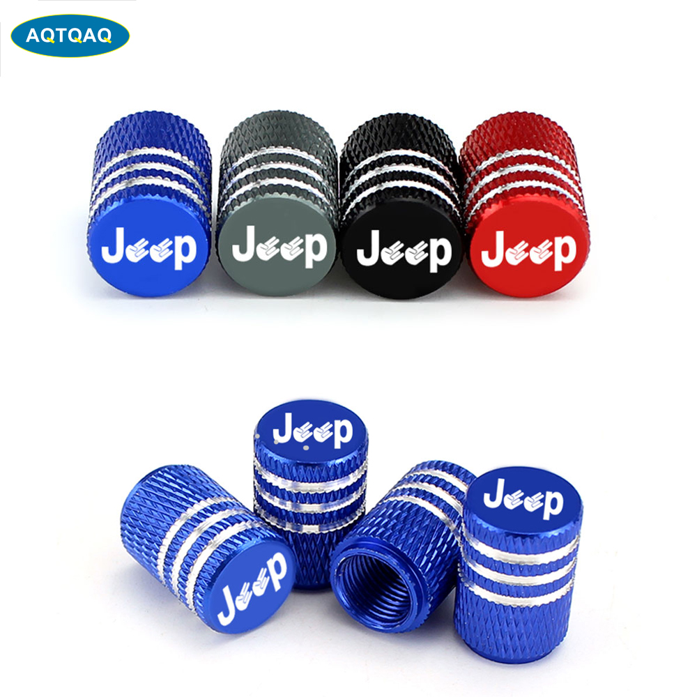 4Pcs/Set Universal Alu-alloy Tire Valve Caps For Car Truck Motorcycle Bicycle Valve Stem Cover Tire Accessorie