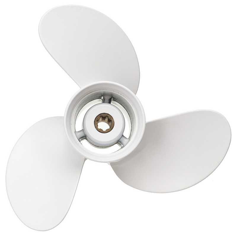 Outboard Propeller 7 1//2 x 8 Color : White, Size : One Size BA Aluminum Outboard Prop with Yamaha 4-6HP 6E0-45941-01-00