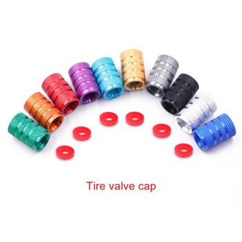 1/2pcs Universal Dustproof Aluminium Alloy Bicycle Cap Wheel Tire Covered Car Truck Tube Tyre Bike Accessories image