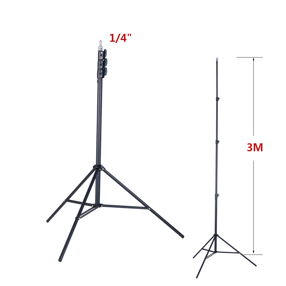 Tools : Professional Quality Metal Tripod 3M Laser Level Nivel Laser Tripod for Laser Level 4 Knots Adjustable 1 4inch Interface