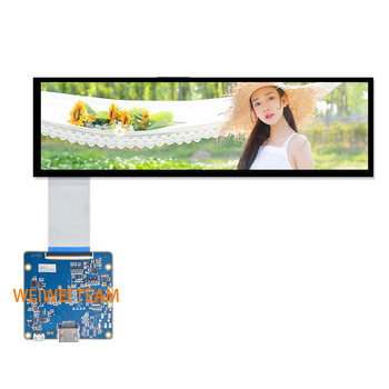 Wisecoco HSD088IPW1-A00 LCD Module 8.8 inch IPS Display Hdmi to Mipi Driver Board 1920x480 Car Stretched Bar Screen