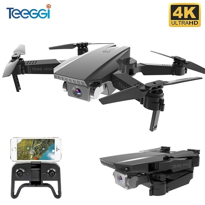 Teeggi M71 RC Drone 4K 720P HD Camera Mini Foldable Quadcopter WIFI FPV Selfie Drones Quadrocopter Helicopter Toy Kids VS KF609