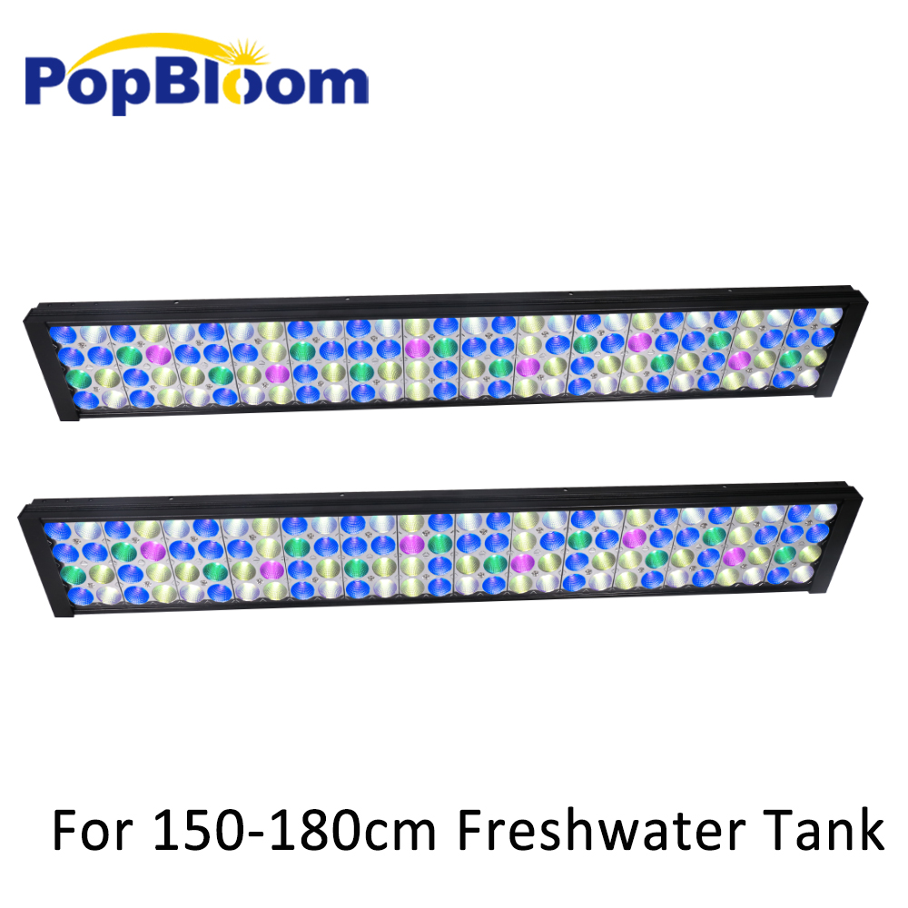 """72"""" 180cm 6ft Full Spectrum Dimmable Aquarium LED Lighting For Freshwater Fish Planted Tank With  Control Turing75"""
