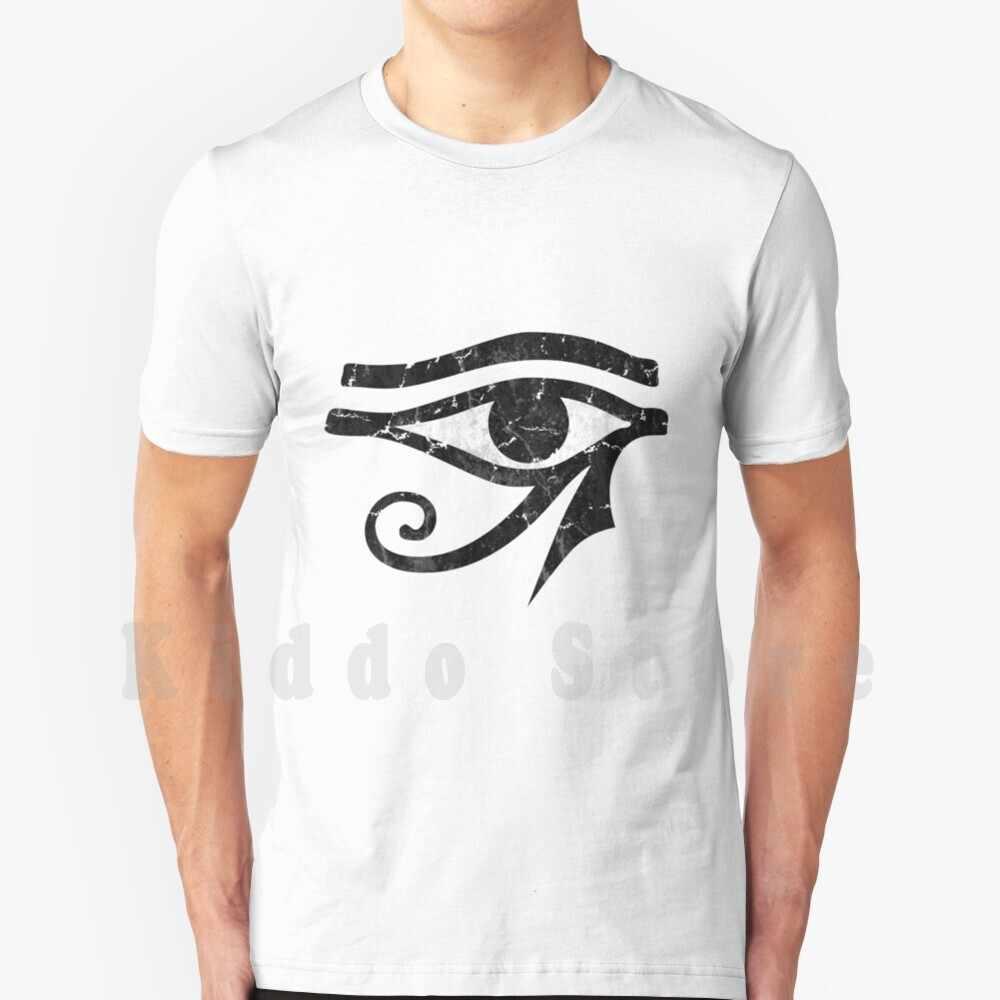 Для фотосъемки в стиле гранж с изображением глаз Ra футболка Для мужчин хлопок S-6Xl для фотосъемки в стиле гранж с изображением глаз РА Re РА Египет