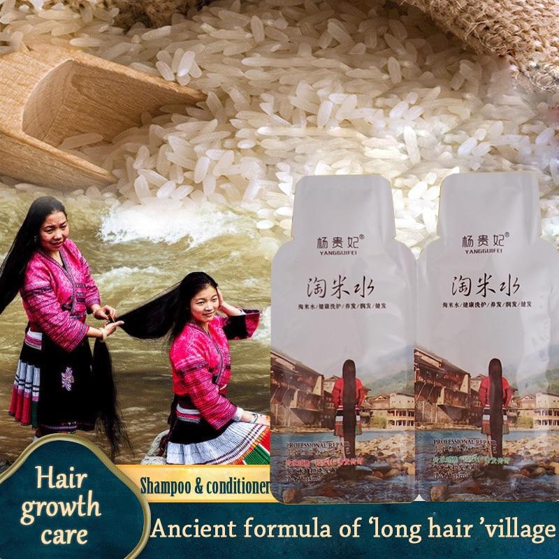 Натуральный рис шампунь для роста волос против выпадения волос лечение волос быстрое рост волос более толстый продукт для ухода за волосам...