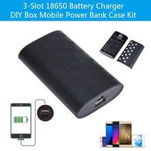 цена на 3-Slot 18650 Li-ion Battery Charger DIY Box Mobile Power Bank Case Kit