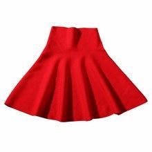 Корейские женские юбки осень зима Вязаные эластичные короткие