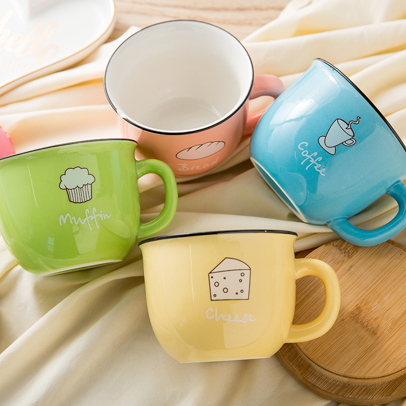 Household European simple ceramic cup coffee cup female cute cup milk tea cup mug couple drinking cup|Tumblers|Home & Garden - title=
