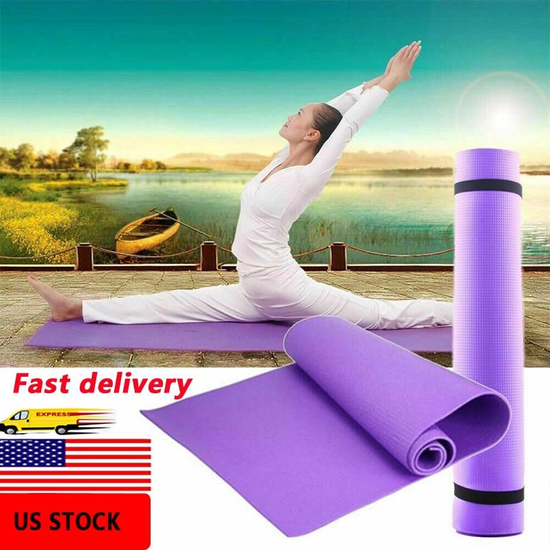 1730*610*4mm EVA Yoga Mat Non Slip Carpet Pilates Gym Sports Exercise Pads For Beginner Fitness Environmental Gymnastics Mats