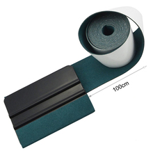 EHDIS 100CM Car Vinyl Decal Wrapping Card Scraper Suede Felt Plastic Foil Film Tool Household Cleaner Tint Window Soft Squeegee