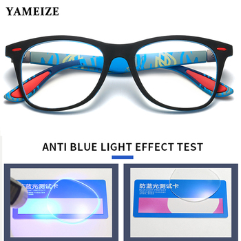 YAMEIZE Anti Blue Rays Computer Glasses Men Blue Light Blocking Glasses For Computer Protection Retro Gaming Optical Eyewear fashion unisex anti blue rays computer goggles reading glasses 100% uv400 radiation resistant glasses computer gaming glasses