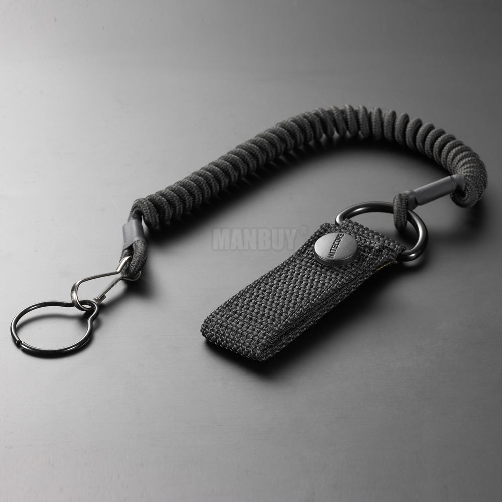 Wholesale NITECORE NTL20 Flashlight Accessories Tactical Lanyard Punched Stainless Steel Ring Safety Rope 25.4mm Diameter Lamp