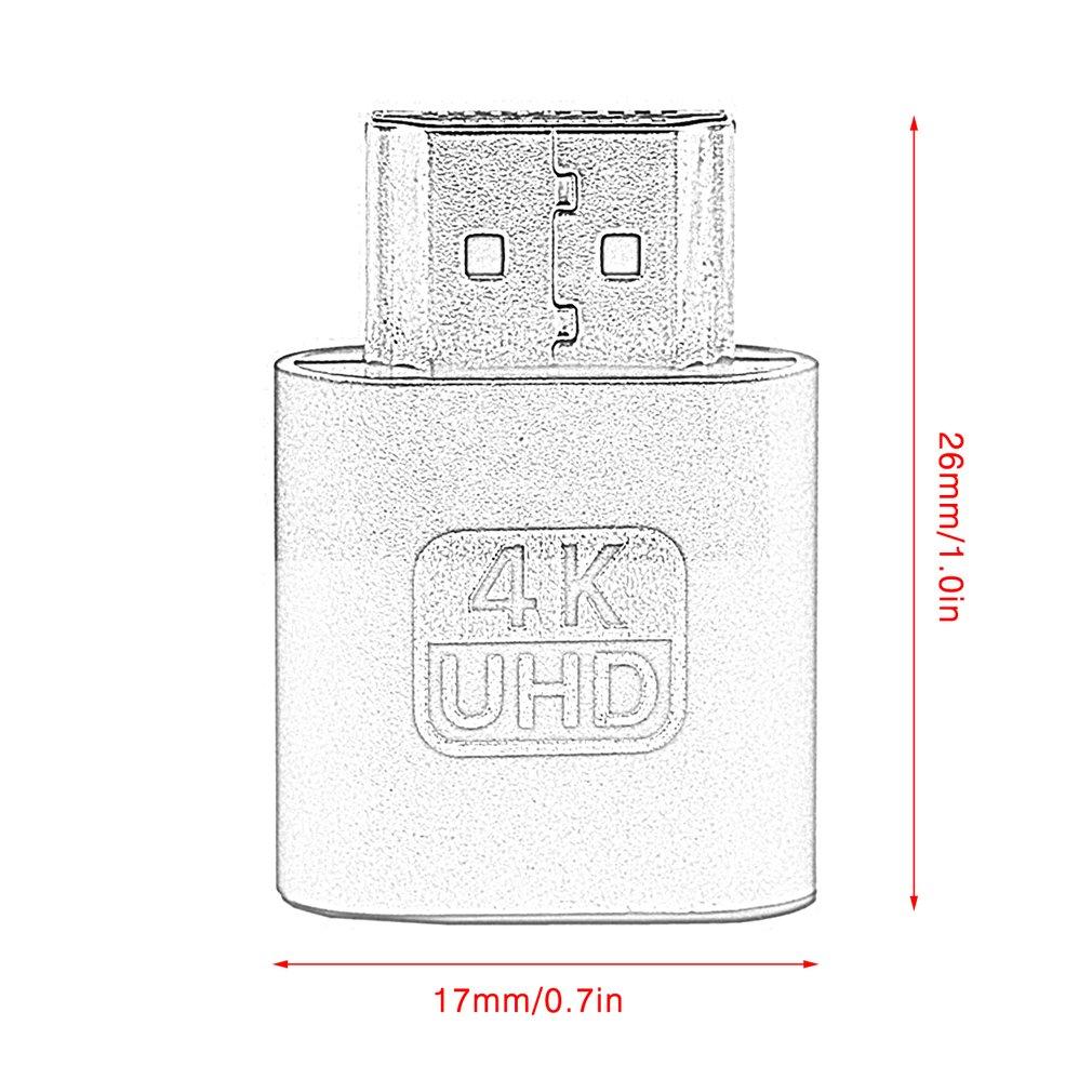 VGA HDMI-compatible Dummy Plug Virtual Display Emulator Adapter DDC Edid Support 1920x1080P For Video Card BTC Mining Miner