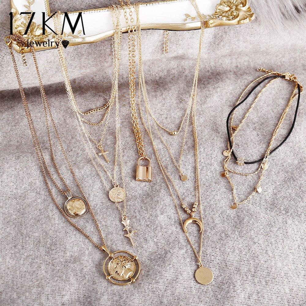 Женское винтажное Золотое круглое ожерелье, ожерелье для монет, Длинная подвеска для монет, 2019 Ожерелья с подвеской      АлиЭкспресс