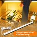 Светодиодный светильник DC 12 В под шкафом ручной выключатель датчик движения ночник для книжного шкафа спальни для шкафов лестниц luz светоди...
