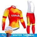 2019 ESPANA зимняя велосипедная одежда 9D брюки комплект MTB велосипедная одежда мужская Ropa Ciclismo термальная флисовая велосипедная куртка одежда д...