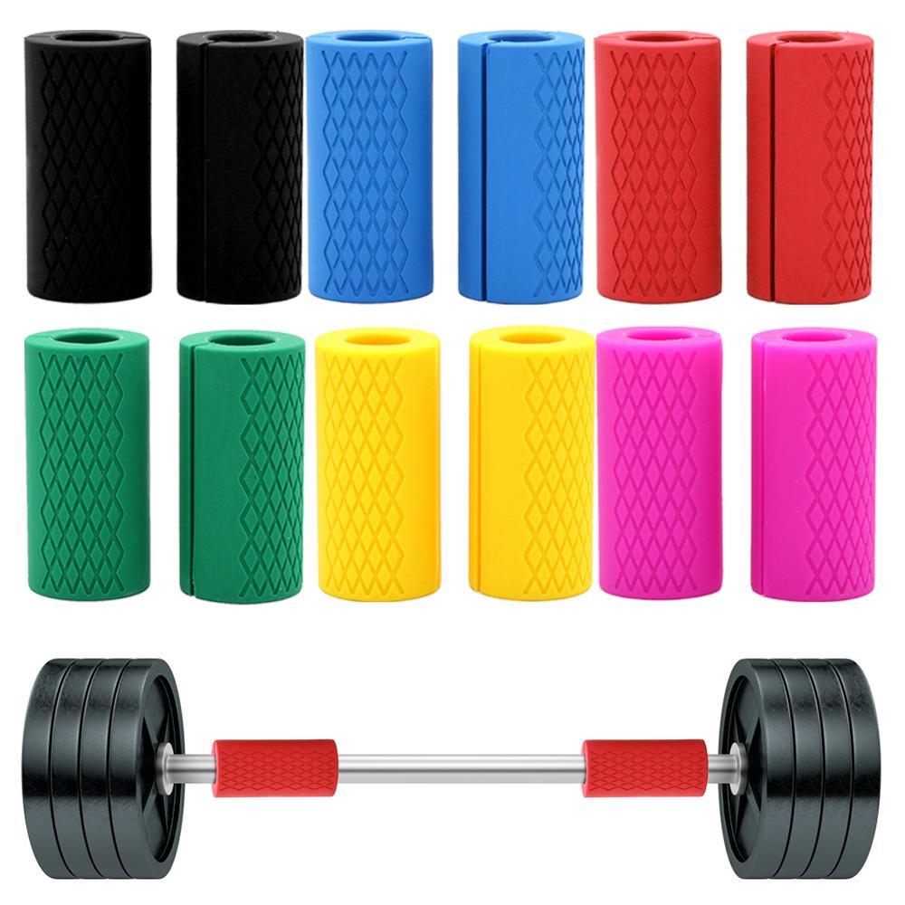 1 пара толстые ручки гантели для подтягивания тяжелой атлетики поддерживающие штанги силиконовые противоскользящие защитные накладки для ...