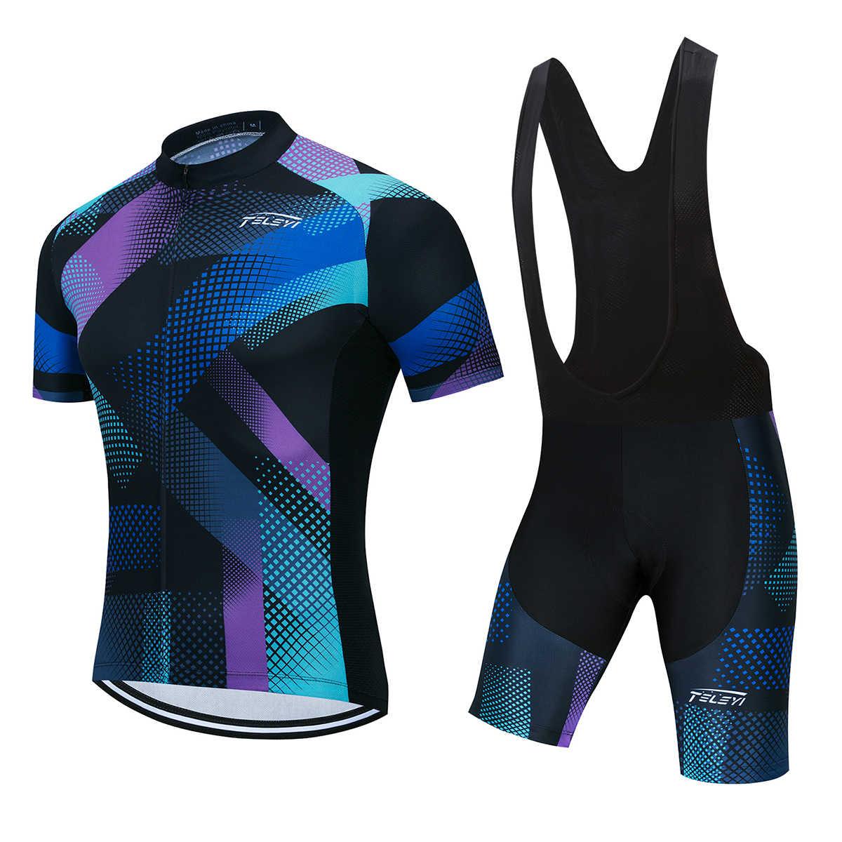 공장 사용자 정의 사이클링 저지 DIY 짧은 소매 저지 5D 젤 패드 턱받이 반바지 자전거 경주 팀 바이커 남성 여성 자전거 정장