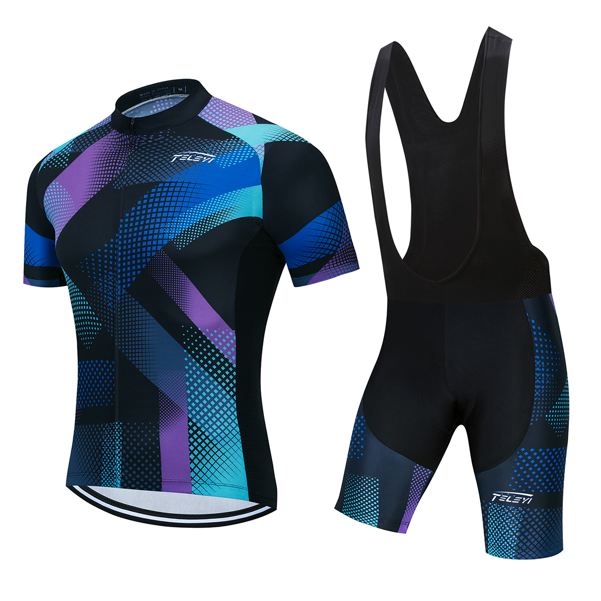 Factory Customized Cycling Jersey DIY Short Sleeve Jersey 5D Gel Pad Bib Shorts Bike Racing Team Biker Male Female Cycling Suit