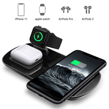 цена на Wireless Charger 3 in 1 Wireless Charging Pad for Apple Watch 5/4/3/2/1 Fast Charging for iPhone 11/XR/XS/X/8P/8/SE Airpots
