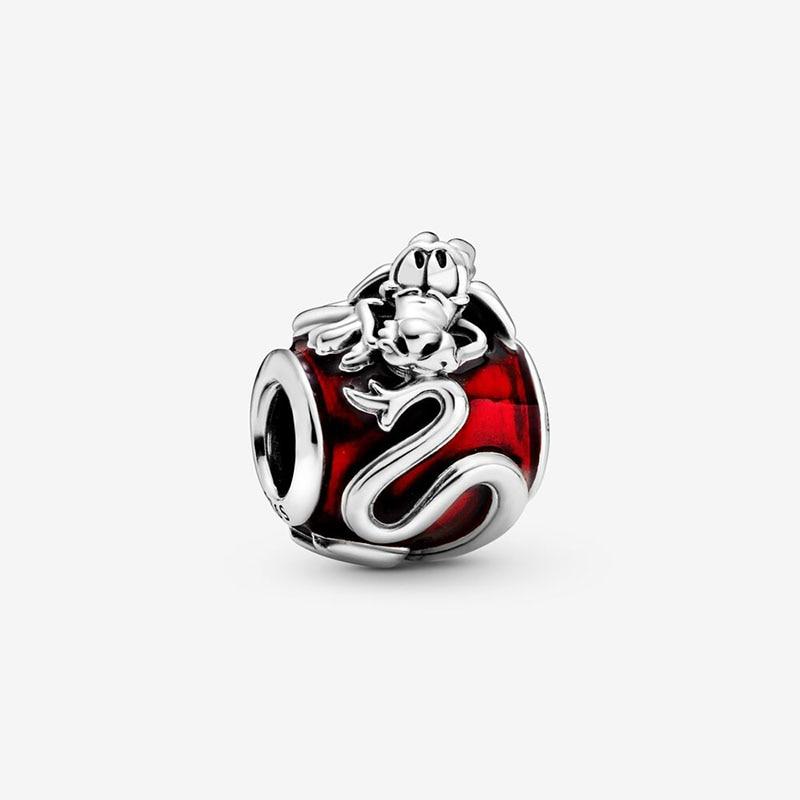 2020 Spring New 925 Sterling Silver Beads Mulan Mushu Charms Fit Original Pandora Bracelets Women DIY Jewelry