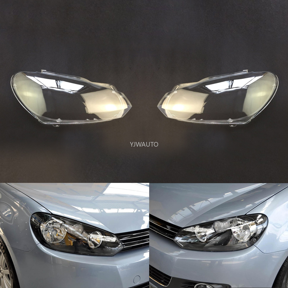 Car Headlamp Lens For Volkswagen VW Golf 6 2009 2010 2011 2012 Headlight Cover Car Replacement Auto Shell
