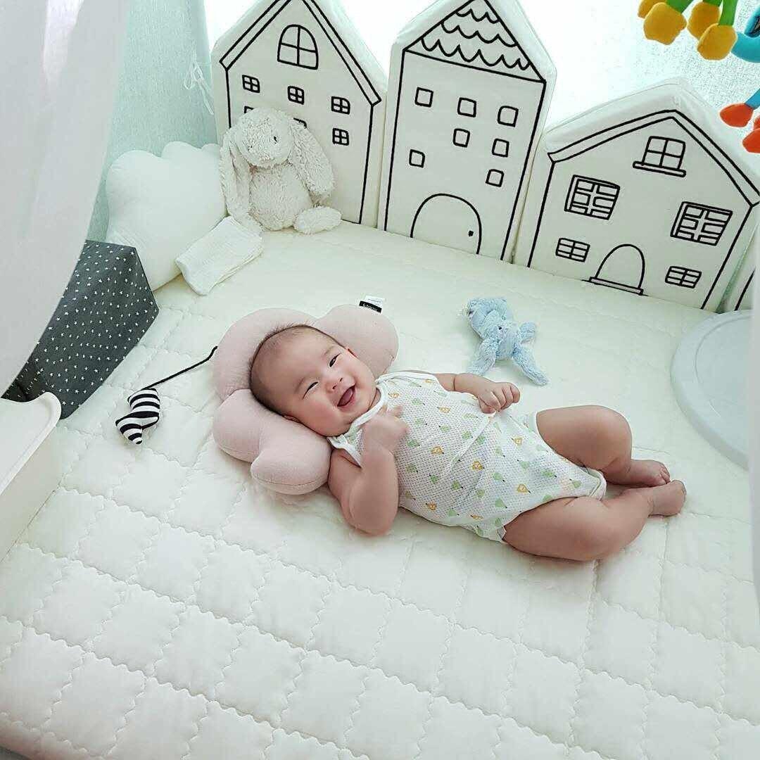 4Pcs Baby Bett Stoßstange Seiten in Die Krippe Neugeborene Bett Babybett Krippe Schutz Baby Bettwäsche Set INS Nordic Kinder zimmer Dekoration