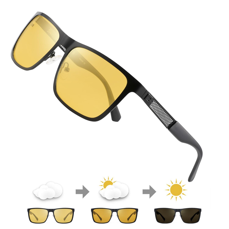 FENCHI-gafas de visión Nocturna para hombre, lentes polarizadas antirreflejos, amarillas, gafas de visión Nocturna para conducción, visión Nocturna para coche