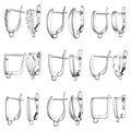 Ажурный дизайн, застежки-крючки для ушей из стерлингового серебра 925 пробы, Ювелирная фурнитура для женщин, геометрические аксессуары для у...