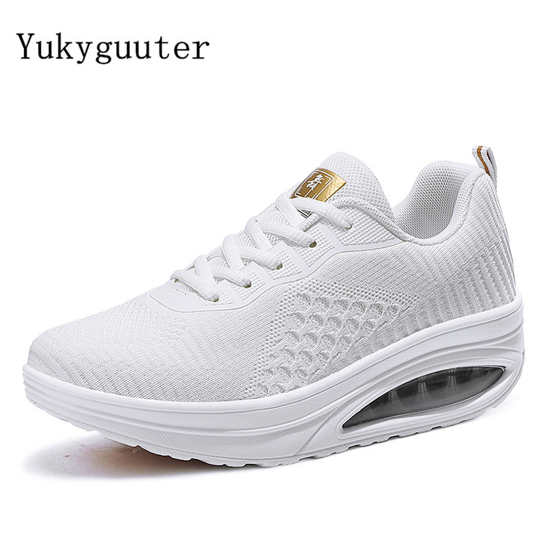 Dance Shoes Woman Ladies Modern Soft Outsole Jazz Sneakers Knit Upper Breathable Lightweight Female Dancing Fitness Shoes Sport image