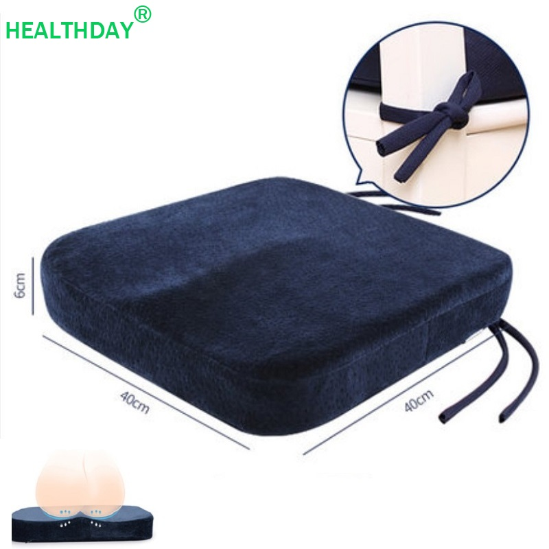 Soft Chair Sitting Pillow Coccyx Pillow Memory Foam Chair Seat Cushion Tailbone Pain Orthopedic Sit Pad Pillow ComfortCushion   -