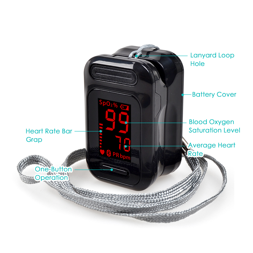 ELERA Finger Pulse Oximeter with OLED Display to calculate Blood Oxygen Saturation 15