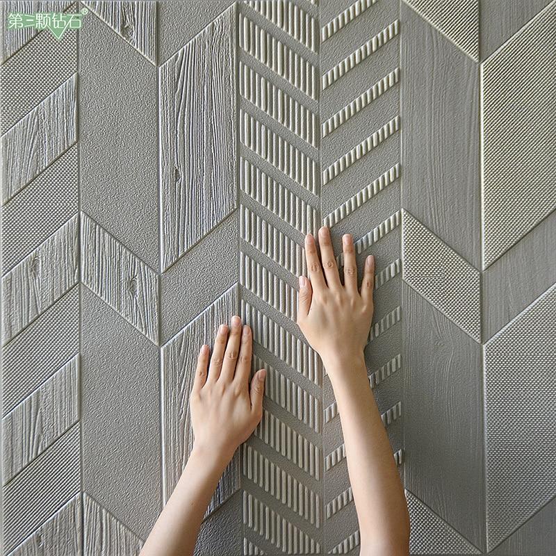 Papel Mural Adhesivo De 3d Wall Papers Home improvement Decor Wallpaper For Kids Living Room  Embossed Modern Household EPP