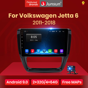 JunsunV1 2G+32G Android 10.0 Car Radio Multimedia Video Player For VW Volkswagen Jetta 6 2011-2018 Navigation GPS 2din autoradio
