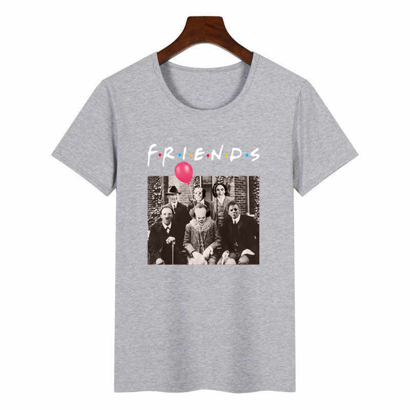 Donne Horror Amici Pennywise Michael Myers Jason Voorhees Halloween T Shirt Harajuku Femminile di Estate T-Shirt di Moda Top Magliette