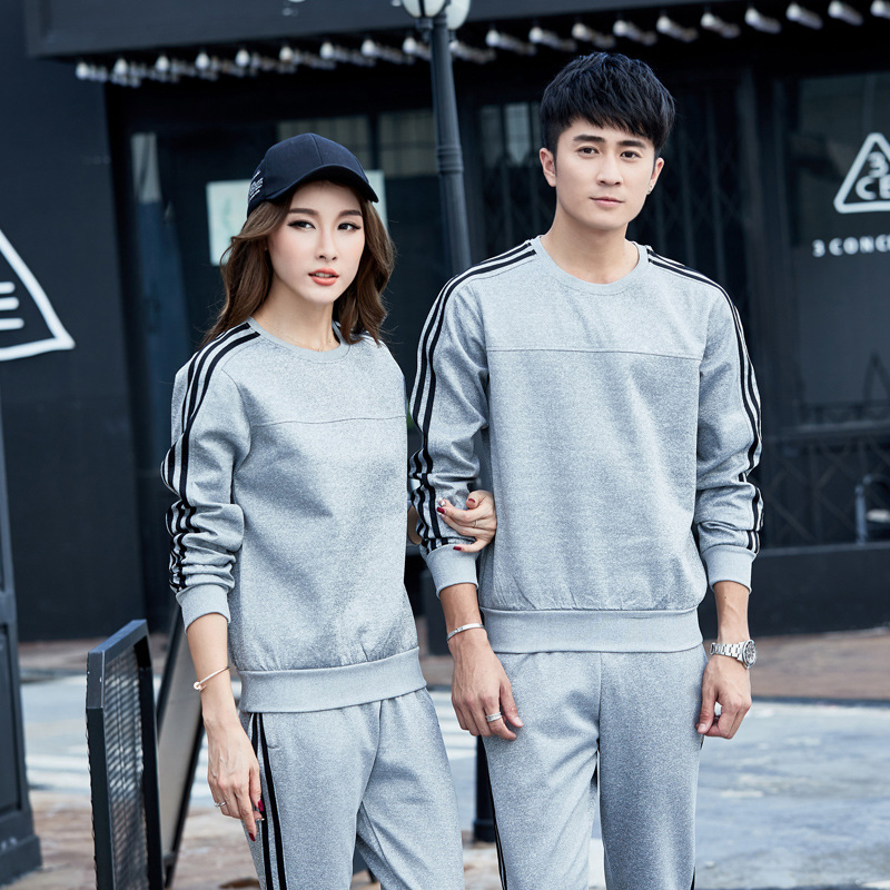 New Style Sports Set 2019 Autumn And Winter Students School Uniform Customization Long Sleeve Business Attire Men And Women Spor
