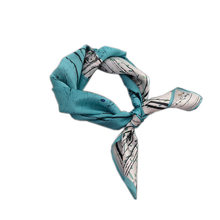 100% Silk Scarf Catkin Printing Little Square Kerchief Lady Scarves Hanky Headwear High Quality Valentines Gift Woman Accessory(China)