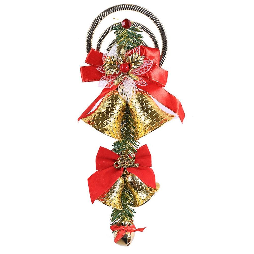 Рождественский колокольчик декоративная подвесная Елочная игрушка подвесное украшение домашний декор - Цвет: H