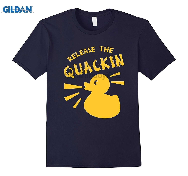 CUTE RELEASE THE QUACKIN T SHIRT Funny Yellow Rubber Duck men's shirt