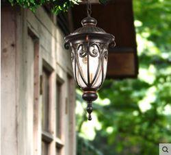 Europejski odkryty żyrandol wodoodporny  odporny na rdzę ogród lampa krajobrazowa przejściach i korytarzach drzwi balkonowe żyrandol czysta lampa aluminiowa Zewnętrzne oświetlenie    -