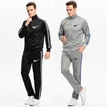 Tracksuits Mens Set 2019 Autumn New Sportswear Men Long Sleeve Sweatshirt+Pants Sporting Suit Printed Brand Sweatsuit 2pcs set