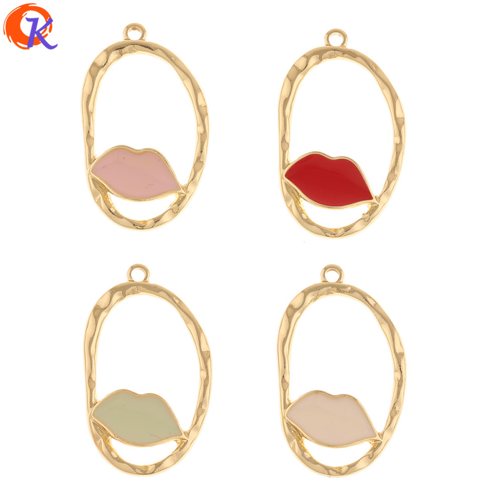 Cordial Design 100Pcs 17*29MM Jewelry Accessories/Hand Made/DIY Earrings Making/Charms/Paint Effect/Earring Findings/Pendant