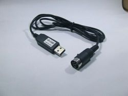USB do kot Din6 kabel do obsługi Kenwood TS 440 TS 450 TS 680 TS 950 TS 940 TS 850 790 w Akcesoria do odtwarzaczy MP3 i wzmacniaczy od Elektronika użytkowa na