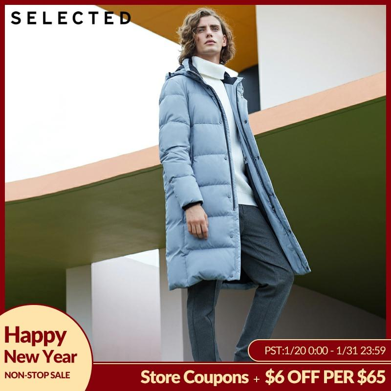 SELECTED New Winter Down Jacket Men's Water-proof Parka Outwear Long Warm Clothes Down Coat S | 418412529