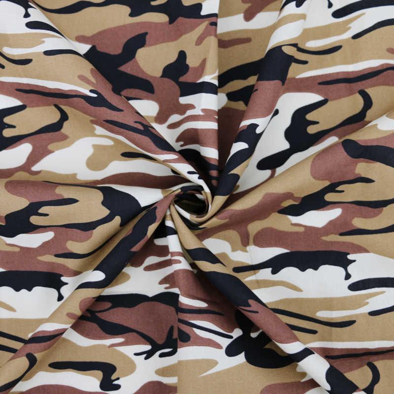 100Cm * 147Cm Army Groen Bruin Blauw Camo Gedessineerde Katoen Materiaal Stoffen Camouflage Poplin
