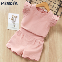 fashion striped kids girls clothing sets summer newborn baby girls clothes cotton tops pant children clothes suits 1 5 years Menoea Kids Girls Clothing Sets Summer New Brand Baby Girls Clothes Short Sleeve T-Shirt+Pant Dress 2Pcs Children Clothes Suits