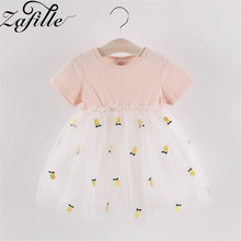 ZAFILLE New Baby Girl Clothes Summer Dress For Girls Patchwork Mesh Girls Dress Short Sleeve Toddler Kids Clothes Princess Dress zafille new baby girl clothes summer dress for girls patchwork mesh girls dress short sleeve toddler kids clothes princess dress
