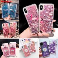 Für Xiaomi Redmi 9T Hinweis 9 4G 5G Mi A2 9 8 Lite SE Max 3 2 CC9 Pro 6X 5X A1 Fall Blume Flamingo Quicksand Glitter Bling Abdeckung